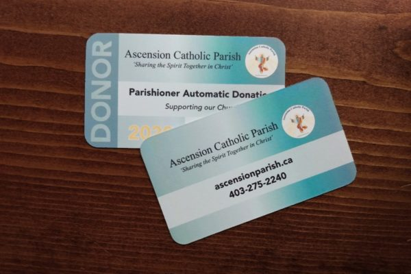 Recently Completed: Ascension Catholic Parish Donor Cards 2020