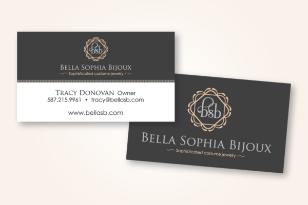 Recently Completed: Bella Sophia Bijoux Business Card