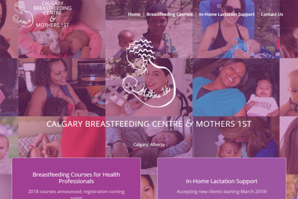 Recently Completed: Calgary Breastfeeding Centre & Mothers 1st Website