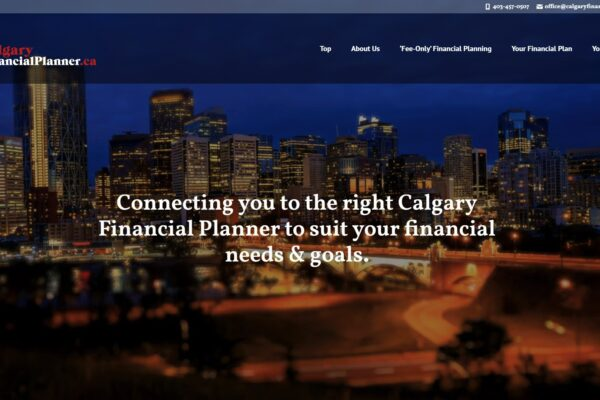 Recently Completed: Calgary Financial Planner Logo and Website