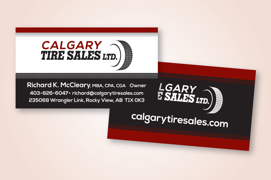 Recently Completed: Calgary Tire Sales Ltd. Logo and Business Card ...