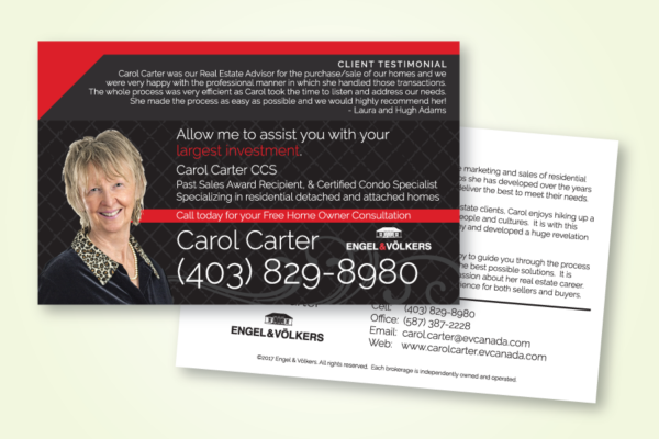 Recently Completed: Carol Carter (Engel & Volkers) Mailout