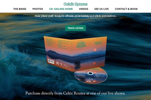 Recently Completed: Celtic Routes Website