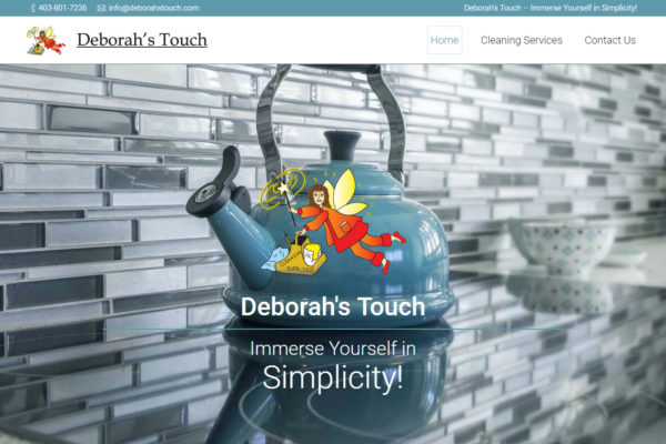 Recently Completed: Deborah's Touch Website