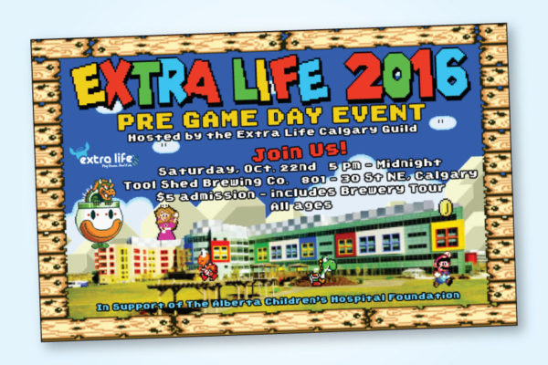 Recently Completed: Extra Life 2016 Calgary Guild Poster