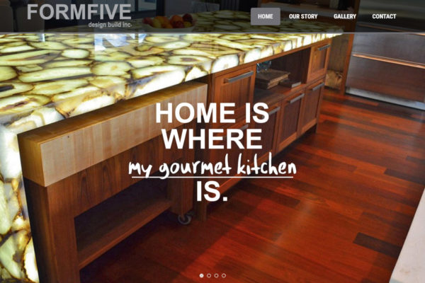 Recently Completed: FORMFIVE Design Build Inc. Website