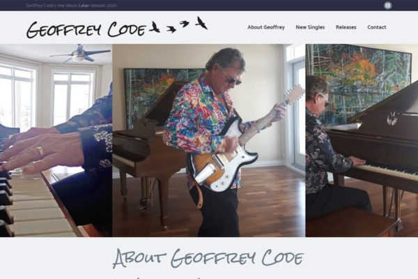 Recently Completed: Geoffrey Code Website