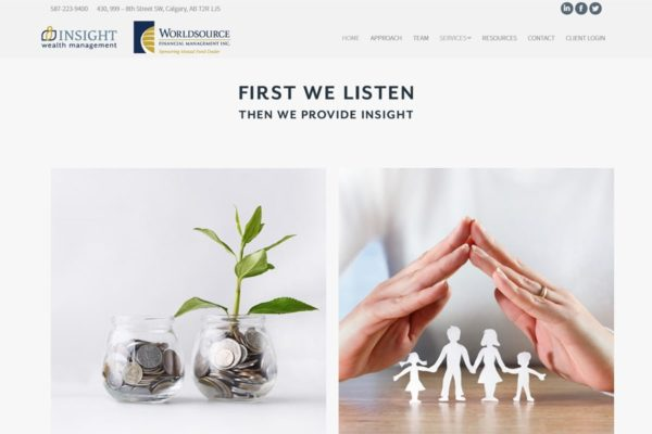 Recently Completed: Insight Wealth Management Website