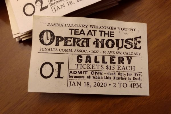 Recently Completed: JASNA Calgary Event Ticket