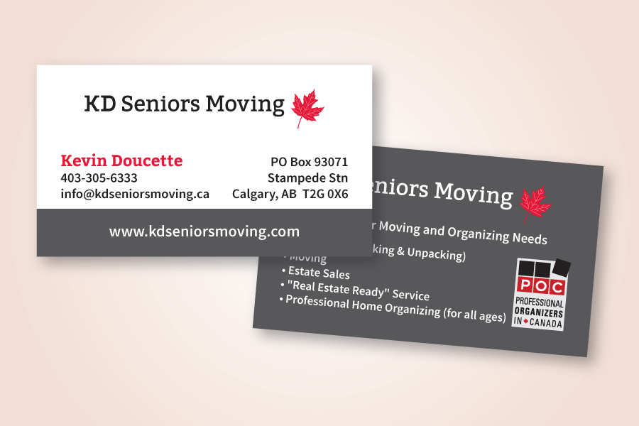 Recently Completed: KD Seniors Moving Logo and Business Card ...