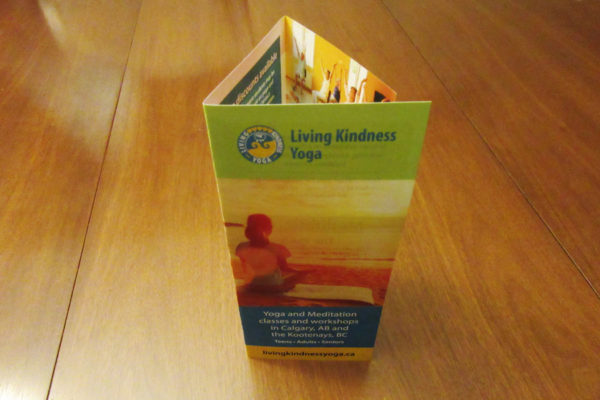 Recently Completed: Living Kindness Yoga Trifold Brochure