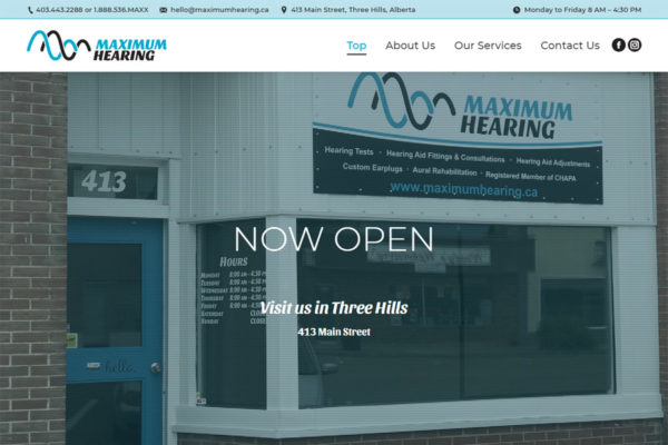 Recently Completed: Maximum Hearing Website