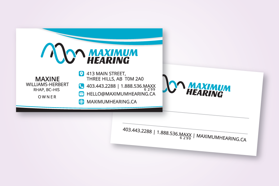 Recently Completed: Maximum Hearing Logo and Business Card ...