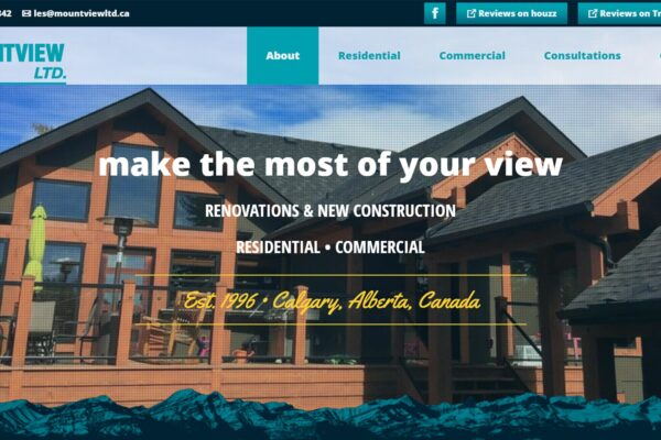 Recently Completed: Mountview Ltd. Website