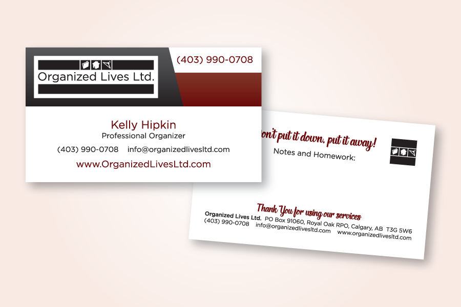 Recently completed organized lives business card electris design recently completed organized lives business card reheart Images
