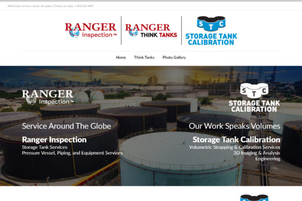 Recently Completed: Ranger Inspection / Ranger Think Tanks / Storage Tank Calibration Website