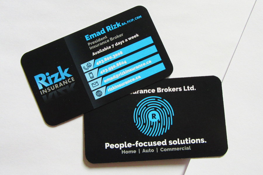 Recently Completed Rizk Insurance Stationary Set Business Card