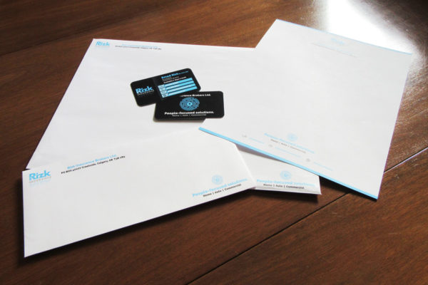 Recently Completed: Rizk Insurance Stationary Set (Business card, Letterhead, Envelopes)