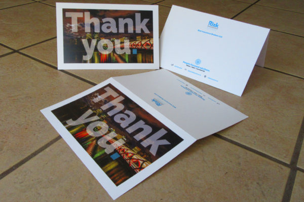Recently Completed: Rizk Insurance Thank You Cards