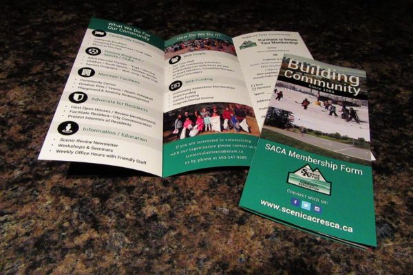 Recently Completed: Scenic Acres Community Association Trifold Brochure