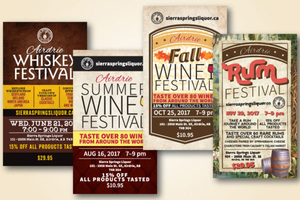 Recently Completed: Sierra Springs Liquor Event Advertisements