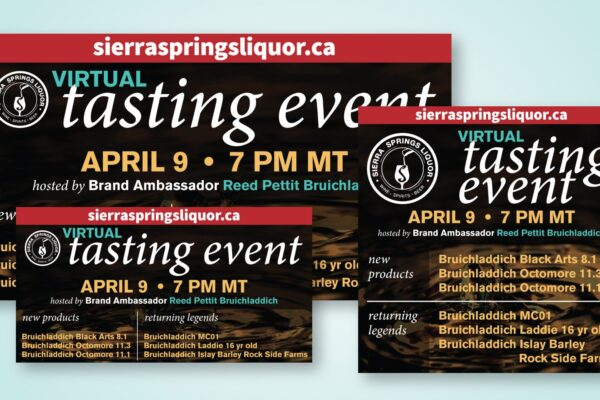 Recently Completed: Sierra Springs Liquor Virtual Tasting Event Social Media Images