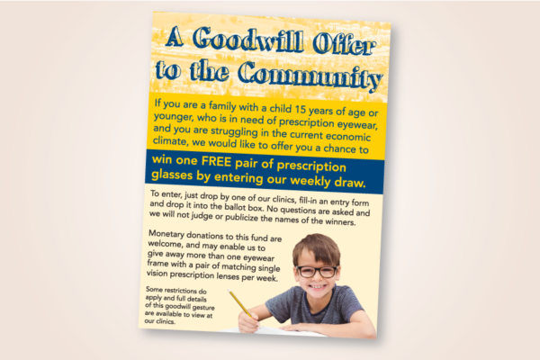 "Recently Completed: Site For Sight / Second Sight ""Goodwill Offer"" Posters"