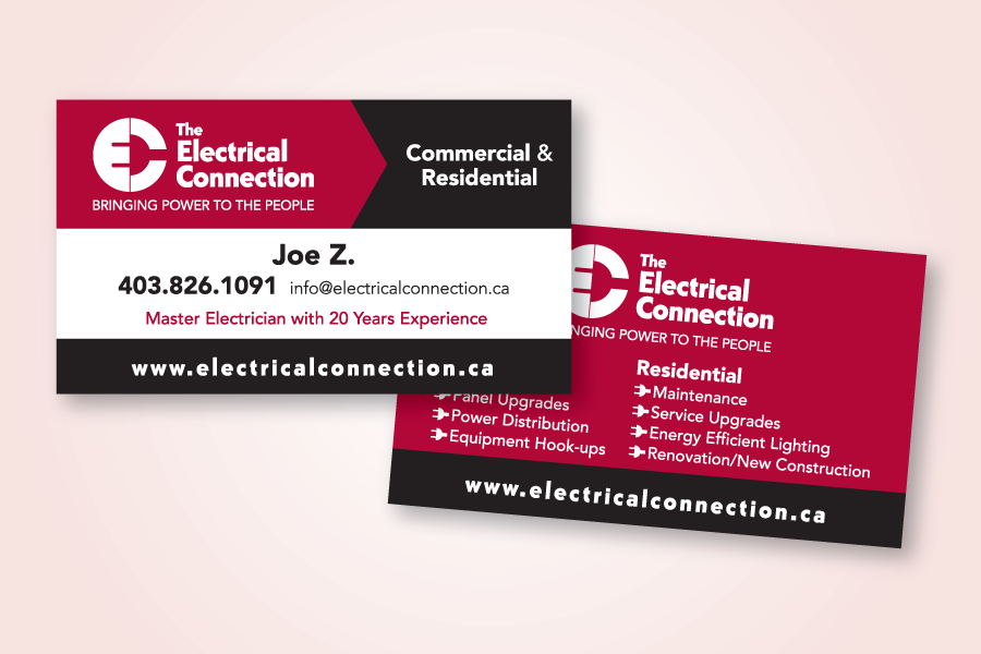 Recently Completed The Electrical Connection Logo And Business Card