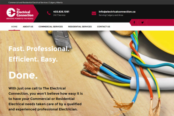 Recently Completed: The Electrical Connection Website
