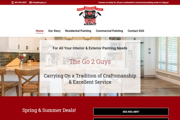 Recently Completed: The Go2Guys Website