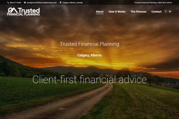Recently Completed: Trusted Financial Planning Website