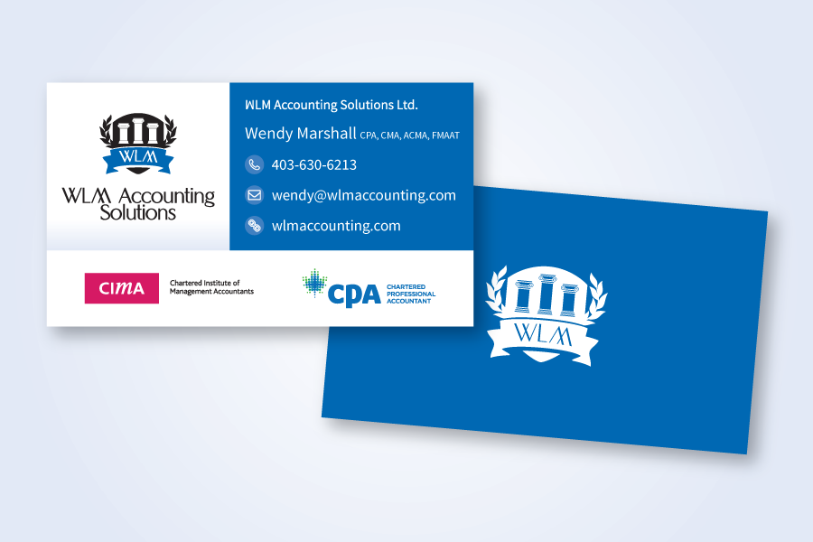 Recently Completed: WLM Accounting Logo and Business Card ...