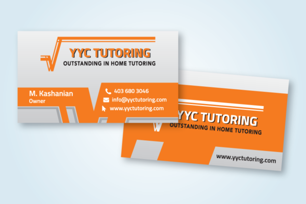Recently Completed: YYC Tutoring Business Card