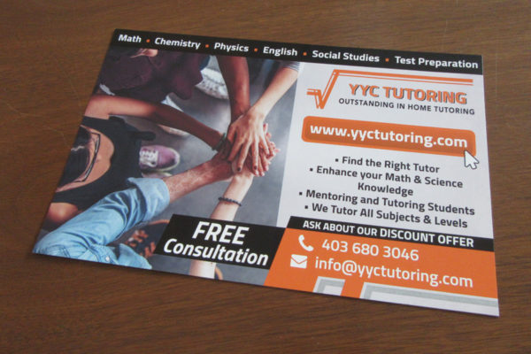 Recently Completed: YYC Tutoring Direct Mail Flyer