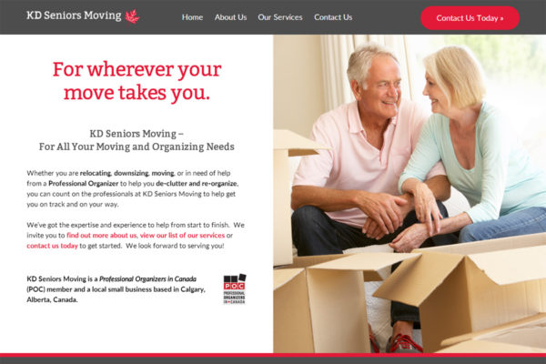 Recently Completed: KD Seniors Moving Website