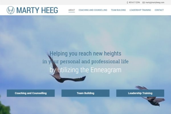 Recently Completed: Marty Heeg Website