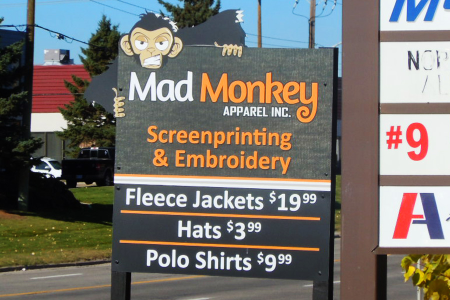 Mad Money Apparel sign