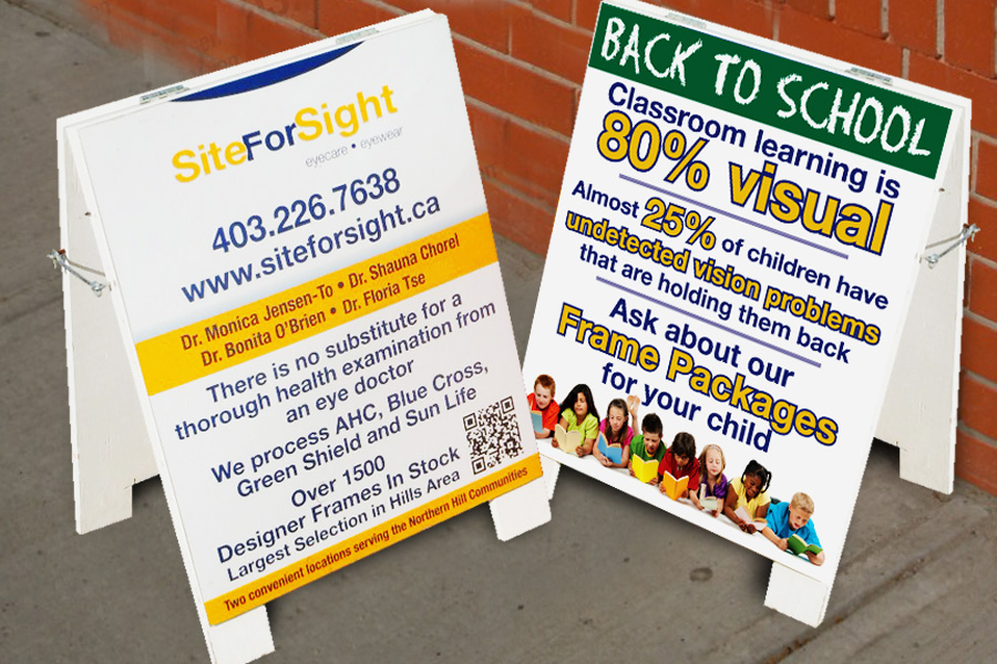 Site For Sight sandwich boards