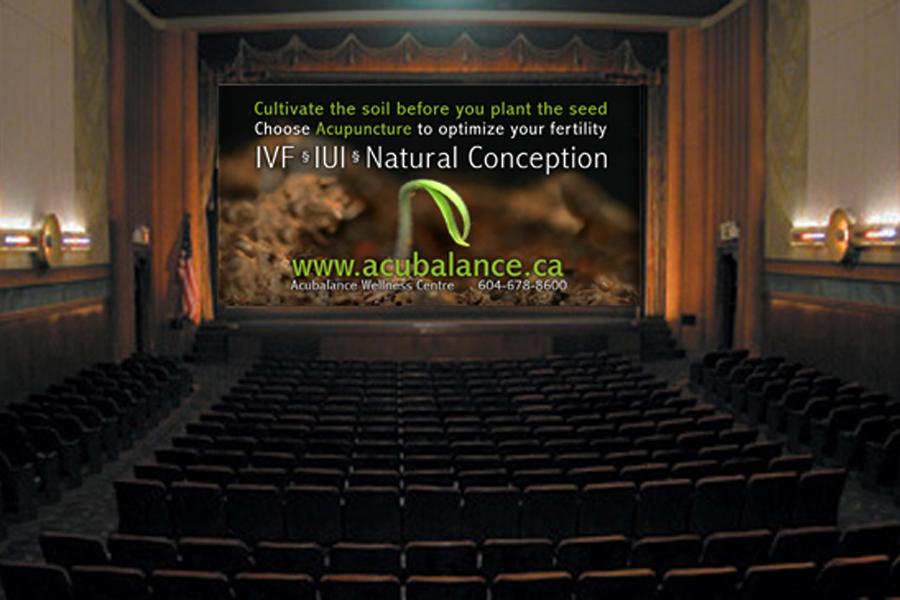 Acubalance theatre slide ad