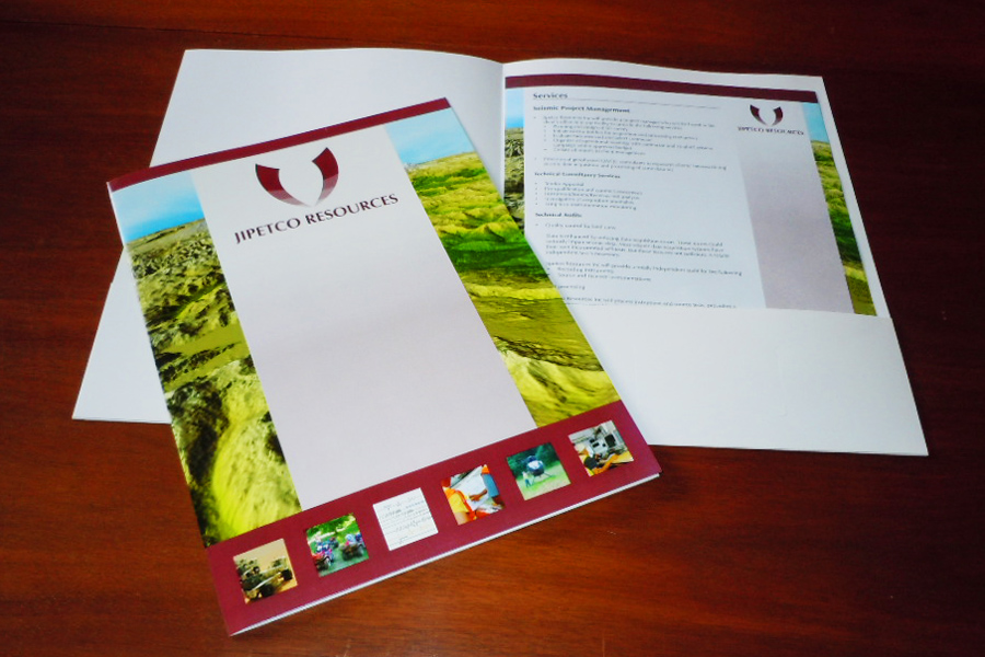 Jipetco Resources presentation folder and inserts