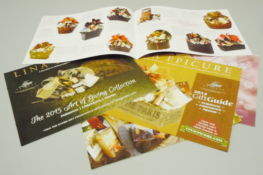 Lina Epicure catalog booklets